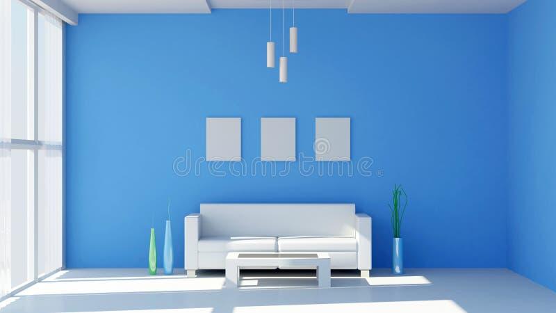 Interiore moderno del salone royalty illustrazione gratis