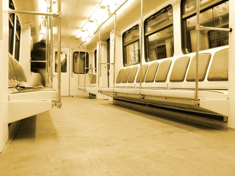 Interiore moderno del treno immagine stock libera da diritti