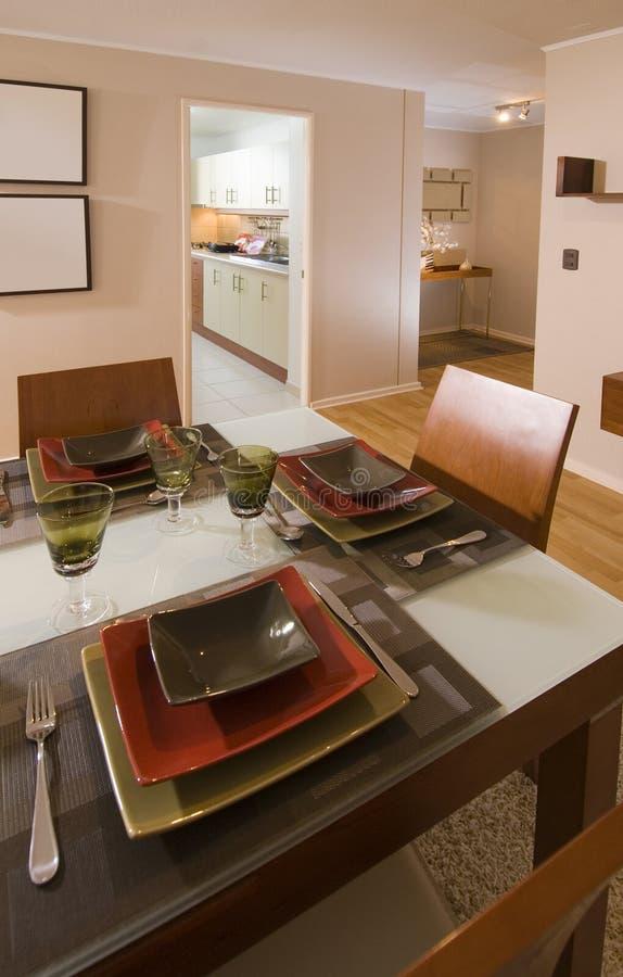 Interiore moderno dell'appartamento fotografie stock libere da diritti