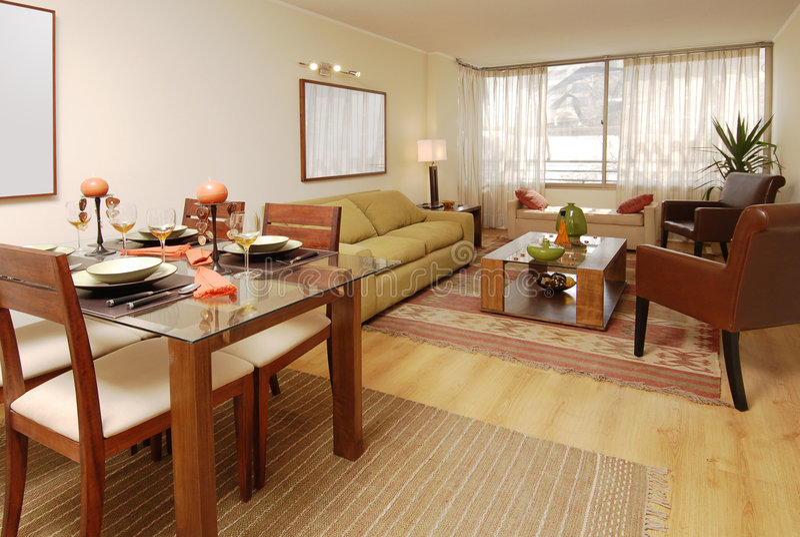 Interiore moderno dell'appartamento fotografia stock