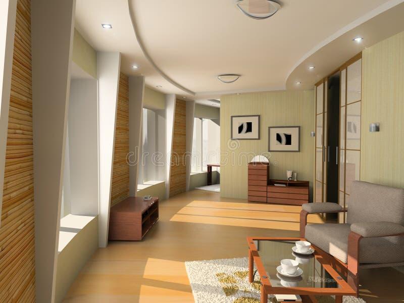 Interiore moderno dell'hotel fotografia stock
