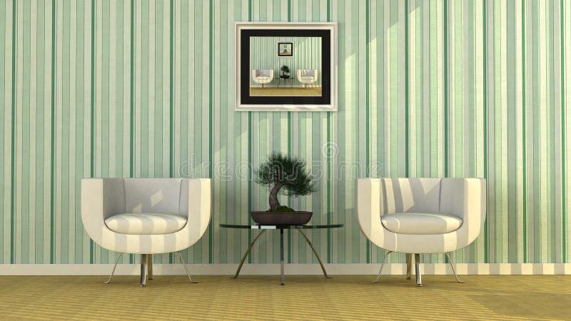 Interiore moderno dell'ufficio illustrazione vettoriale