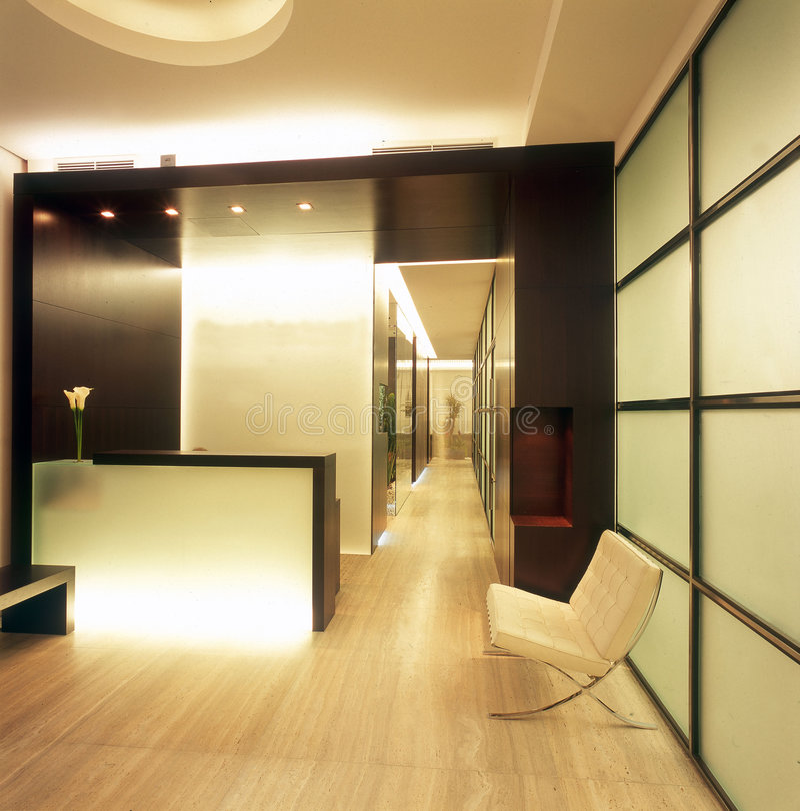 Interiore moderno dell'ufficio immagine stock libera da diritti