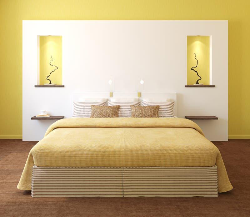 Interiore moderno della camera da letto. royalty illustrazione gratis