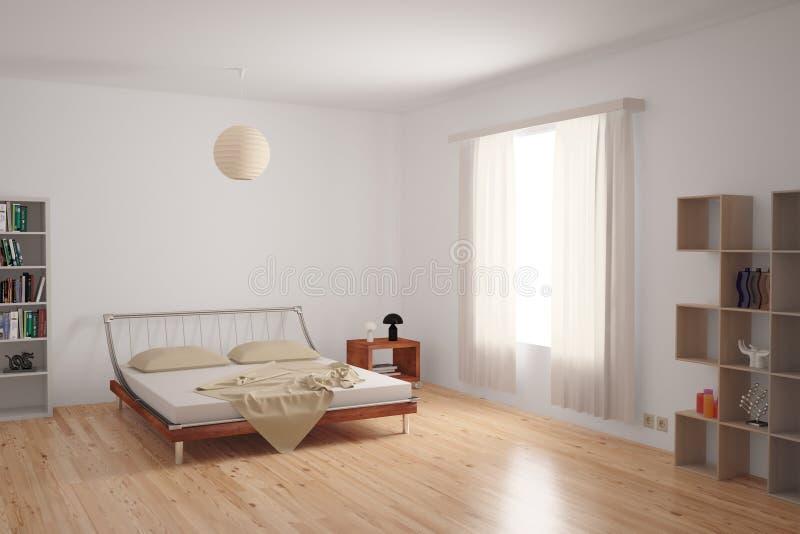 Interiore moderno della camera da letto royalty illustrazione gratis