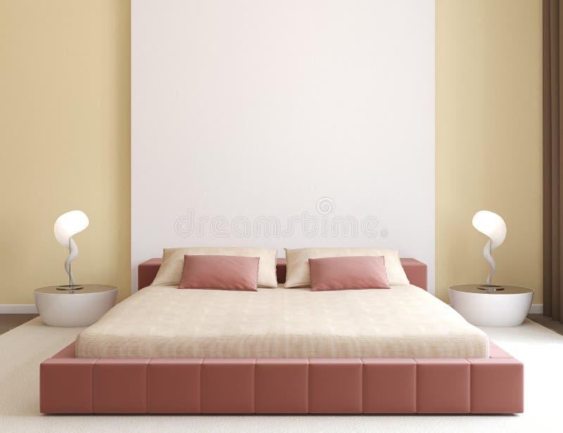 Interiore moderno della camera da letto. illustrazione di stock