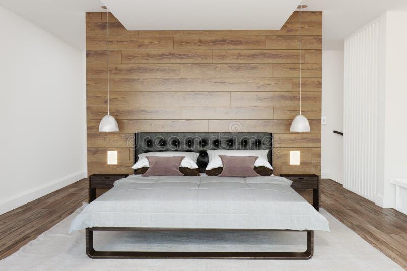 Interiore moderno della camera da letto fotografia stock libera da diritti