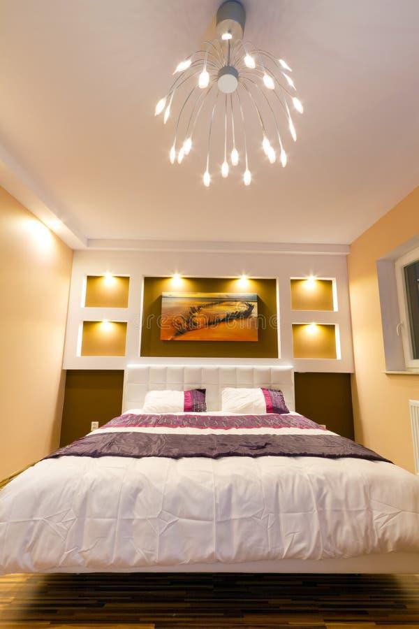 Interiore moderno della camera da letto matrice fotografia stock