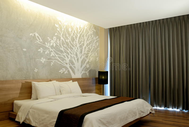 Interiore moderno della camera di albergo fotografia stock