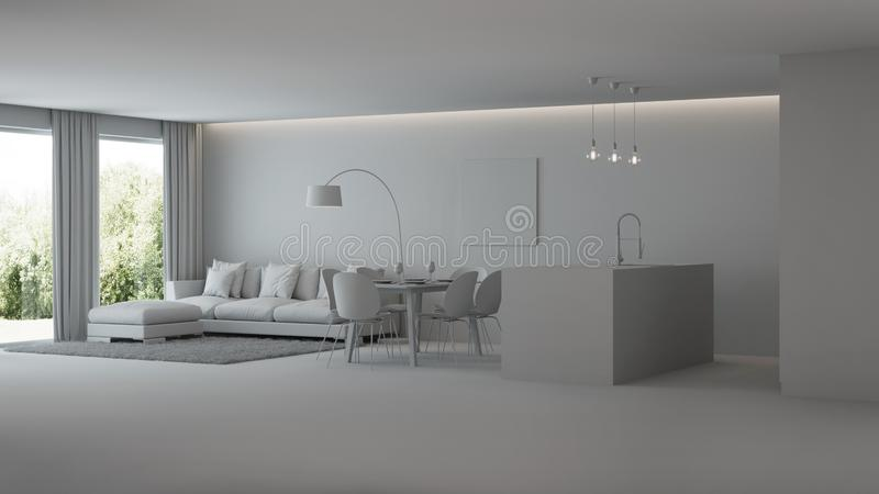 Interiore moderno della casa Interiore grigio illustrazione vettoriale