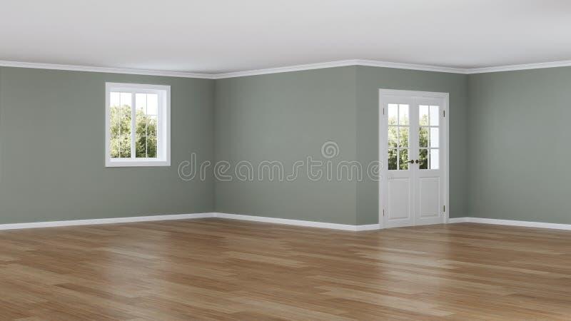 Interiore moderno della casa Stanza vuota illustrazione vettoriale
