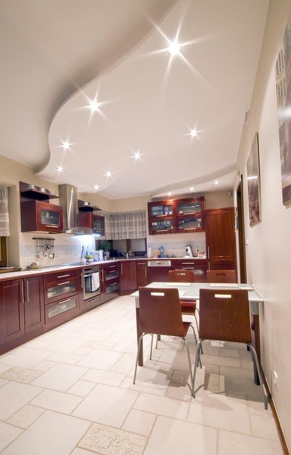 Interiore moderno della cucina immagine stock libera da diritti