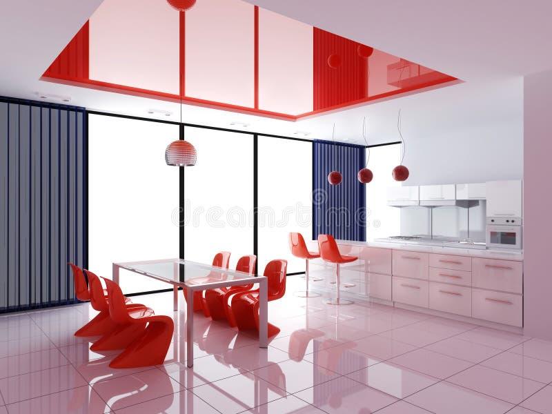 Interiore moderno della cucina illustrazione di stock