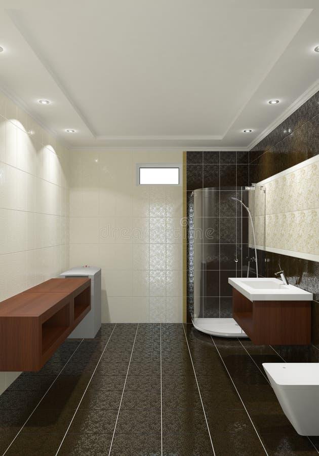 Interiore moderno della stanza da bagno illustrazione di stock