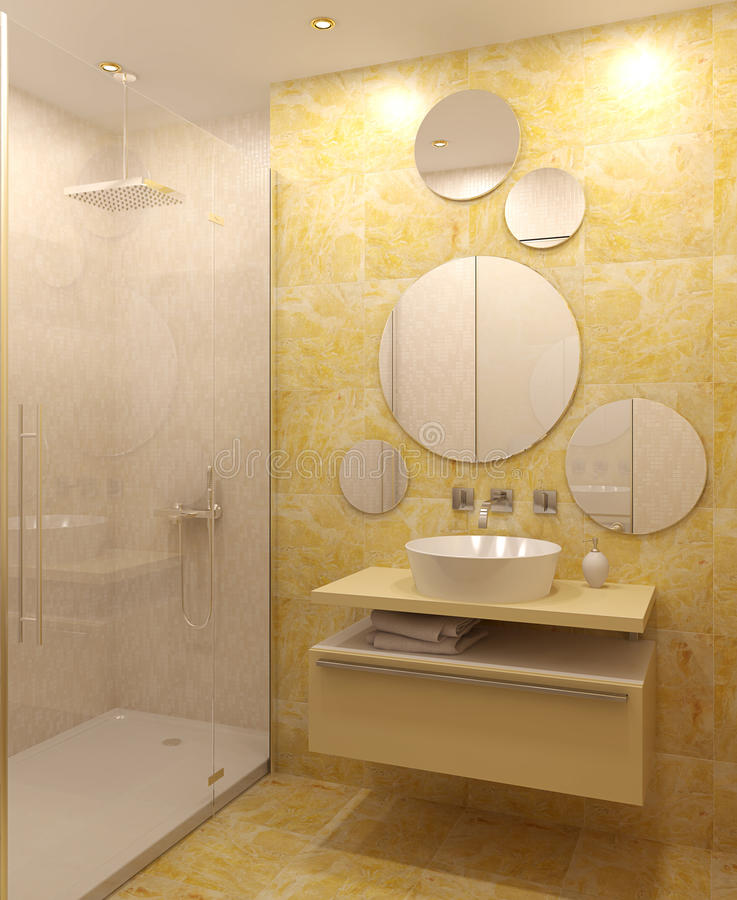 Interiore moderno della stanza da bagno. royalty illustrazione gratis