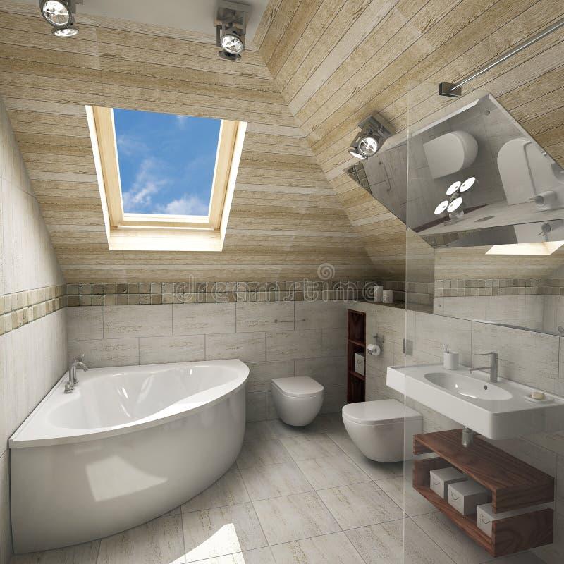 Interiore moderno della stanza da bagno royalty illustrazione gratis