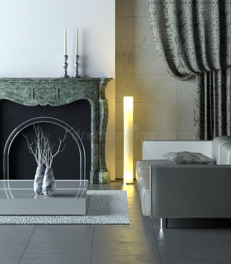 Interiore moderno di marmo illustrazione vettoriale