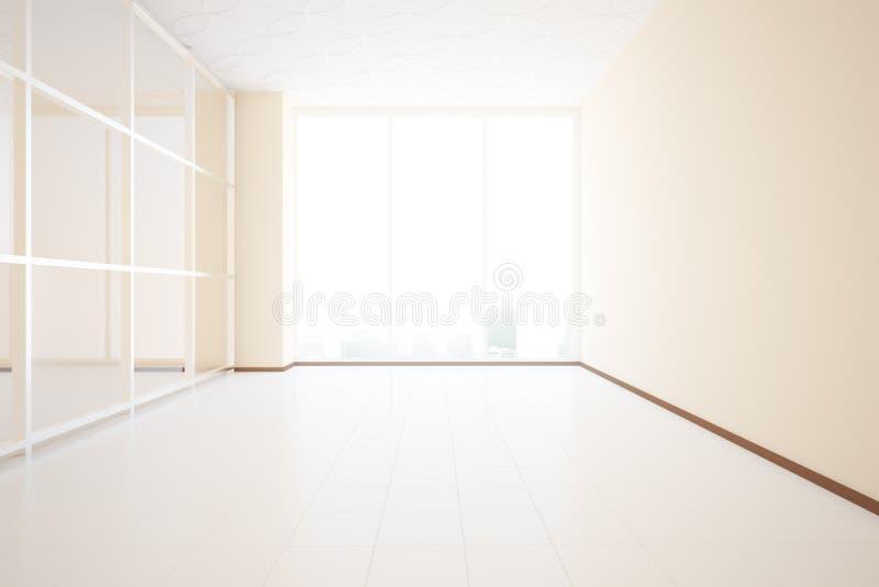 Interiore non ammobiliato illustrazione di stock