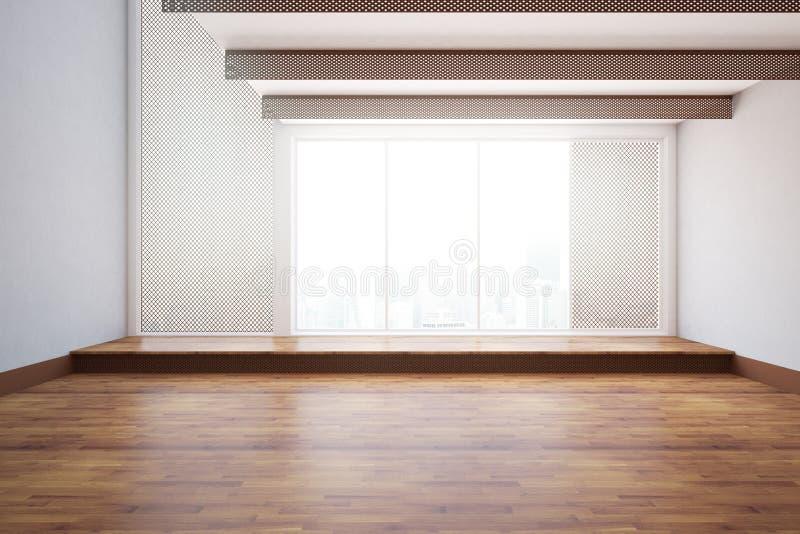 Interiore non ammobiliato fotografie stock