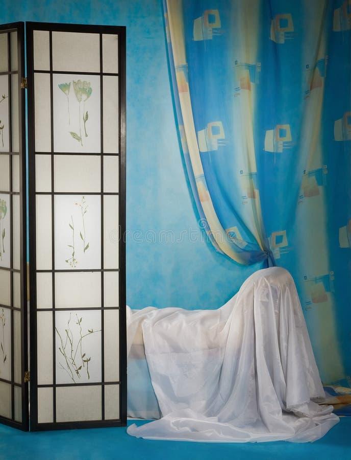 Interiore raffinato del boudoir immagine stock libera da diritti