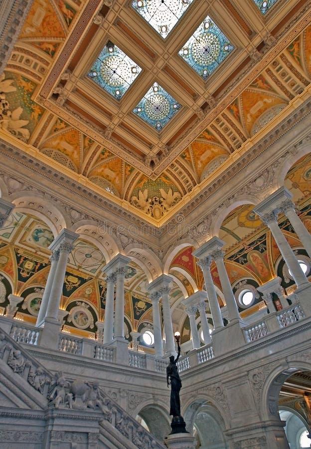 Interiore ricco, libreria di Cong immagine stock libera da diritti