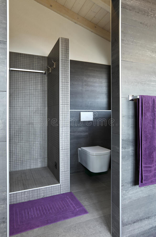 Interiore, stanza da bagno immagini stock