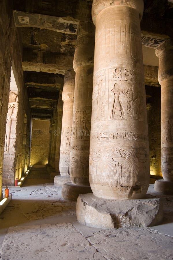 Interiore, tempiale di Abydos, Egitto fotografia stock libera da diritti