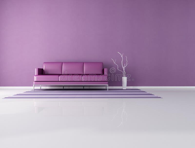 Interiore viola minimalista illustrazione vettoriale