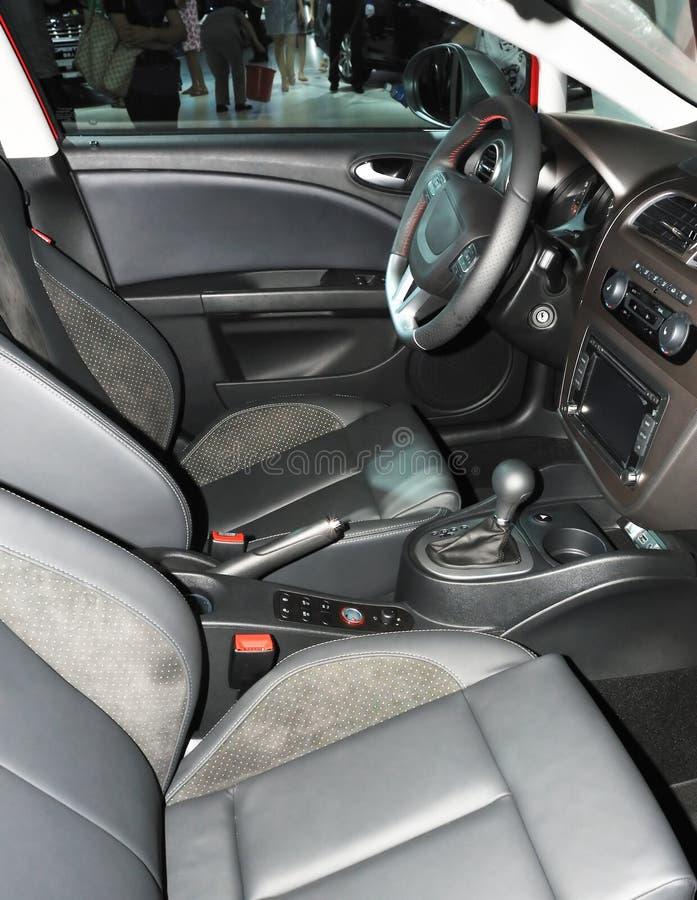 Interiore vuoto dell'automobile fotografia stock