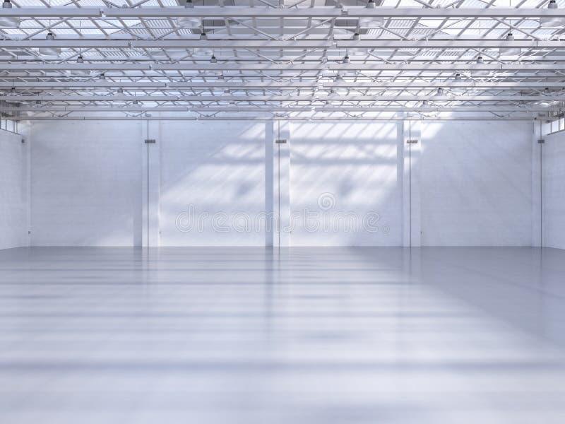 Interiore vuoto della fabbrica illustrazione vettoriale