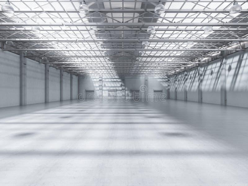 Interiore vuoto della fabbrica royalty illustrazione gratis