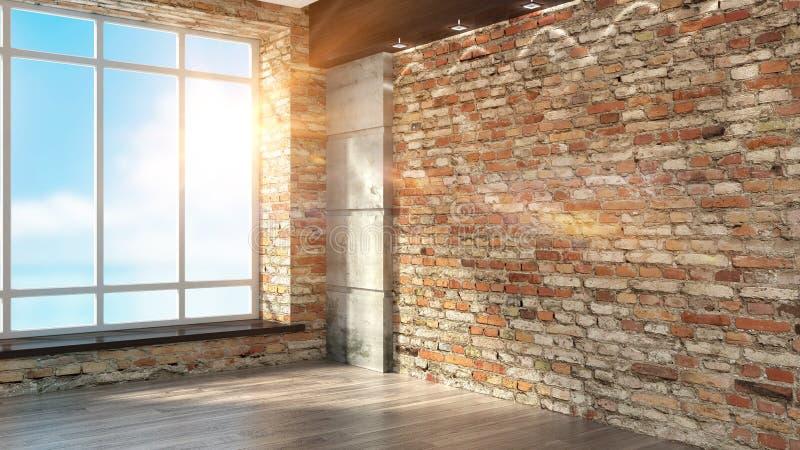 Interiore vuoto moderno illustrazione di stock