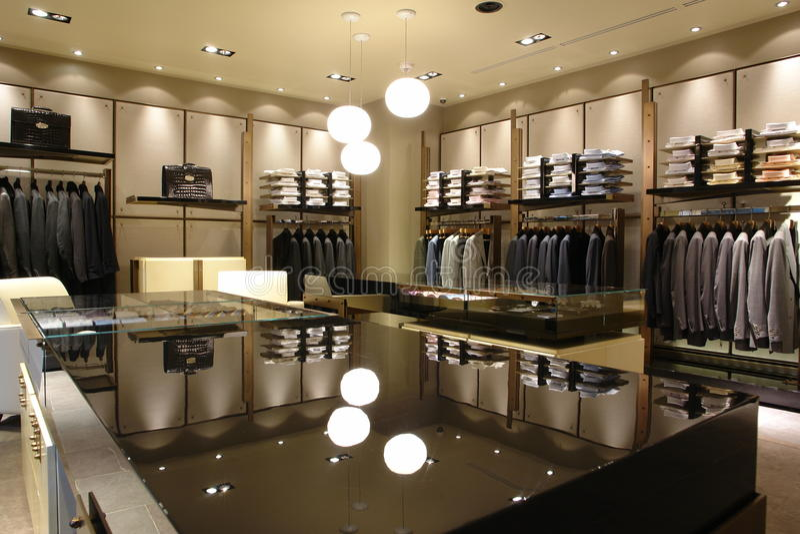 interioren shoppar arkivbild