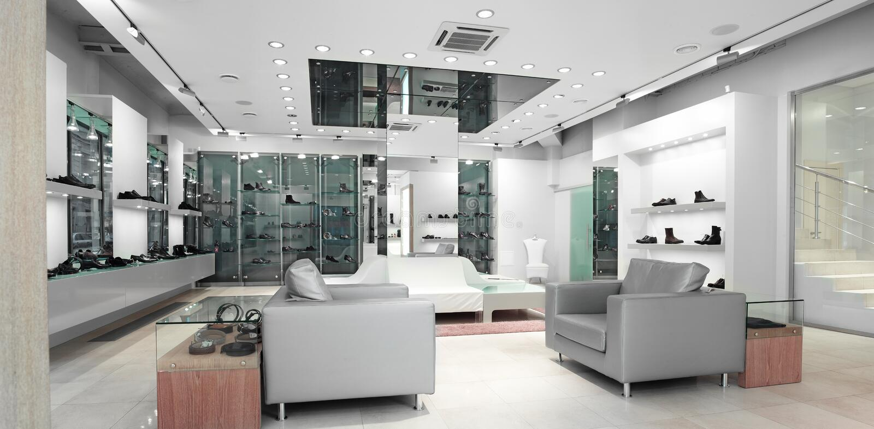 interioren shoppar royaltyfri fotografi