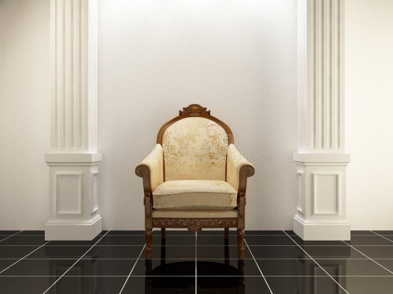 Interiores - asiento antiguo libre illustration