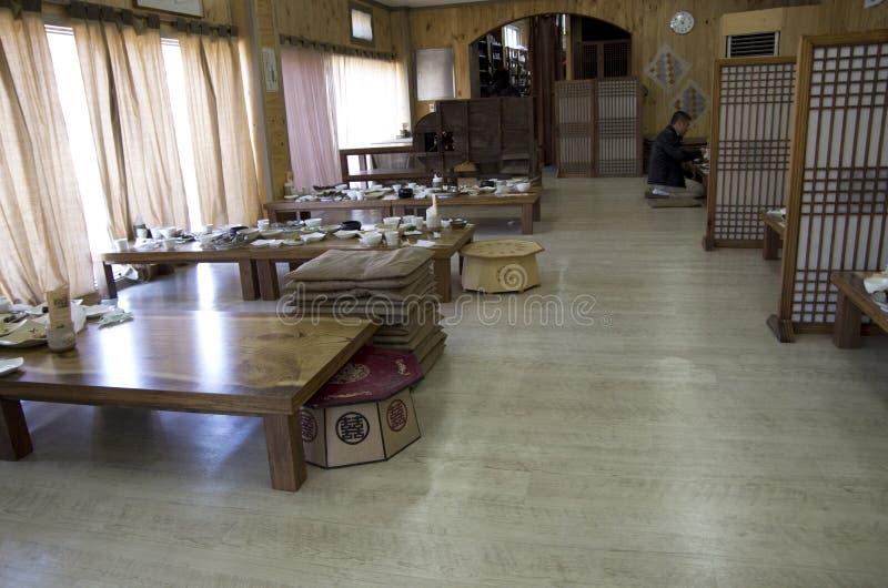 Interiores coreanos del restaurante fotografía de archivo libre de regalías