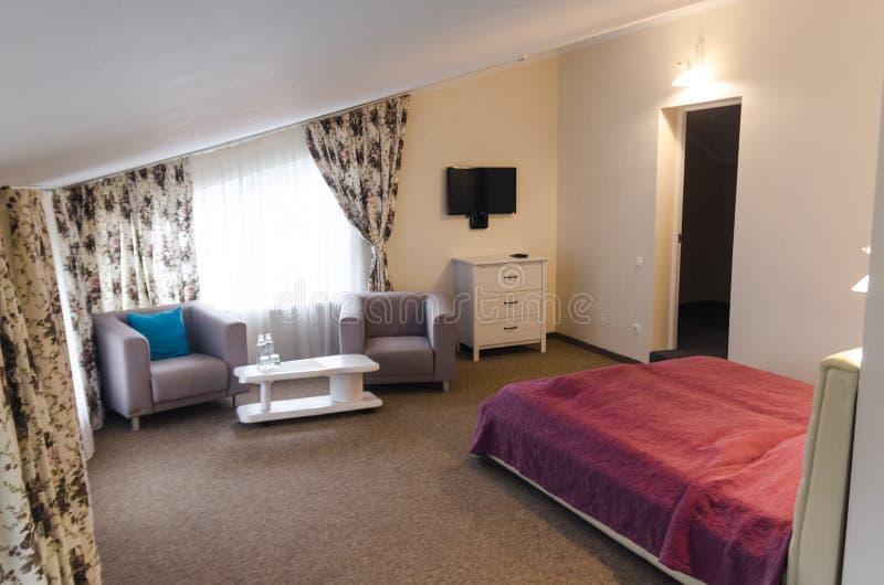 Interiores da sala de hotel imagens de stock royalty free