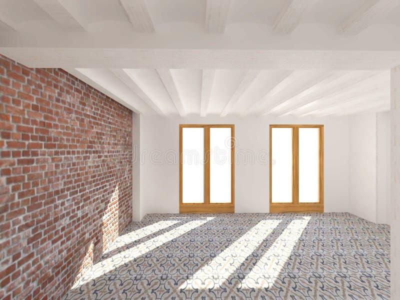 Interiores da sala de visitas de uma casa foto de stock
