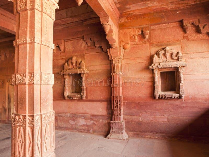 Interiores de Fatehpur Sikri, India fotografia de stock royalty free