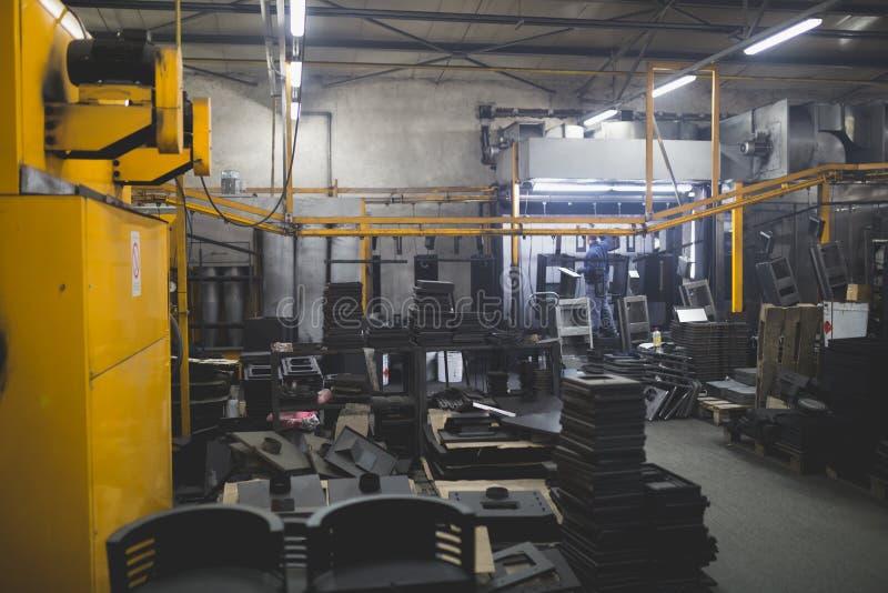 Interiores de la fábrica de la fabricación foto de archivo libre de regalías