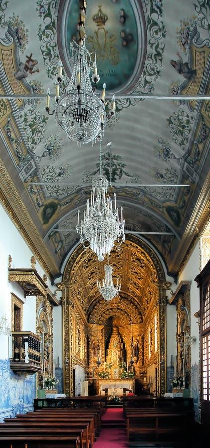 Interiores de la iglesia fotos de archivo libres de regalías
