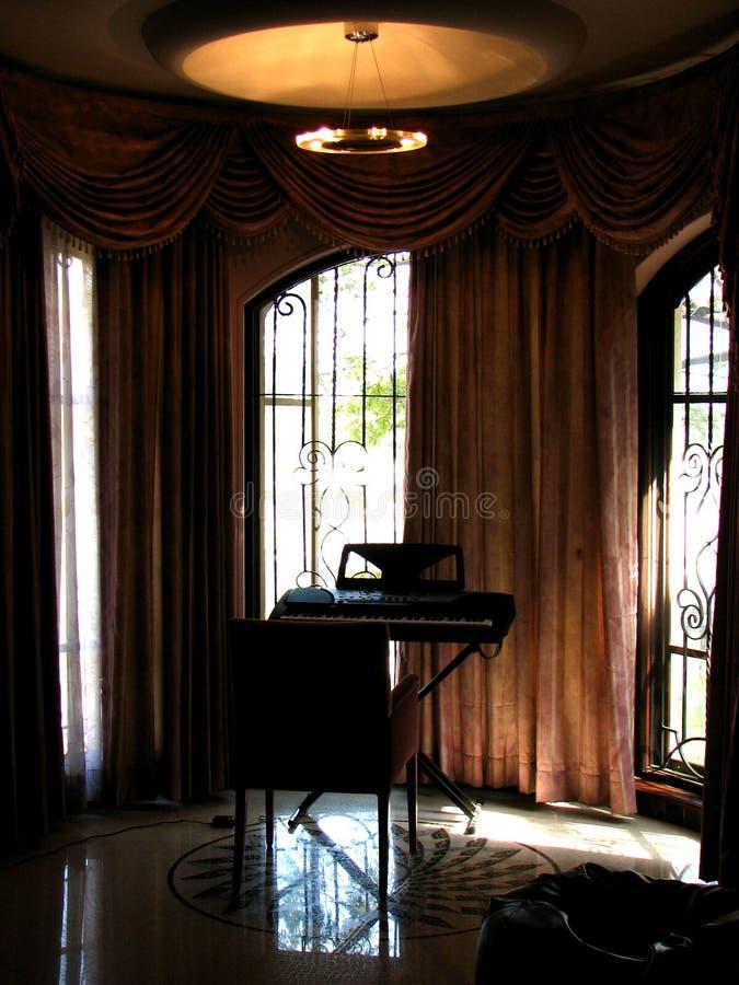 Interiores de la música fotografía de archivo