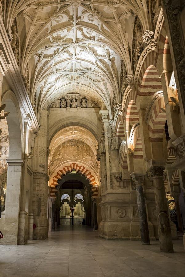 Interiores de la Mezquita en Córdoba fotografía de archivo