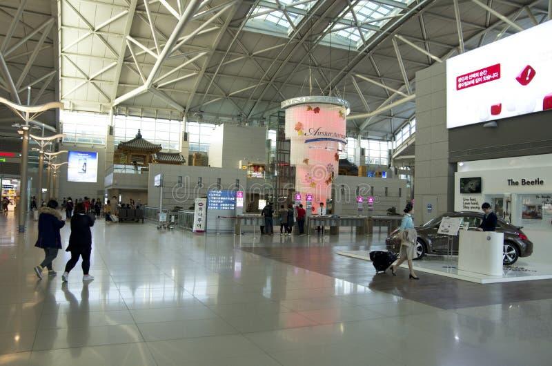 Interiores del aeropuerto de Inchen fotografía de archivo