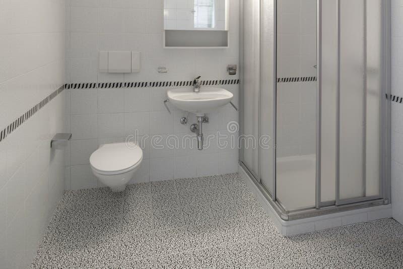 Interiores del apartamento vacío, cuarto de baño fotografía de archivo