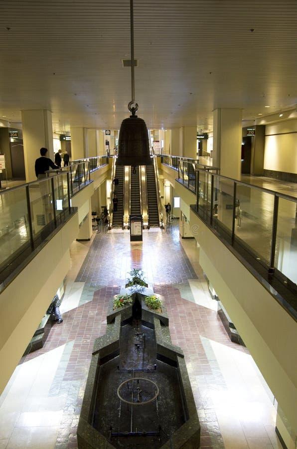 Interiores del edificio de Washington Convention Center imagenes de archivo