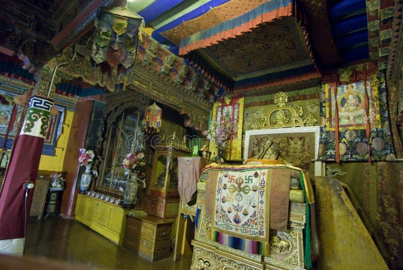 Interiores del palacio de Potala imagen de archivo libre de regalías