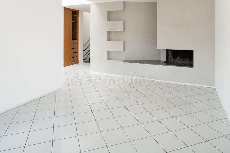 Interiores do apartamento vazio fotografia de stock