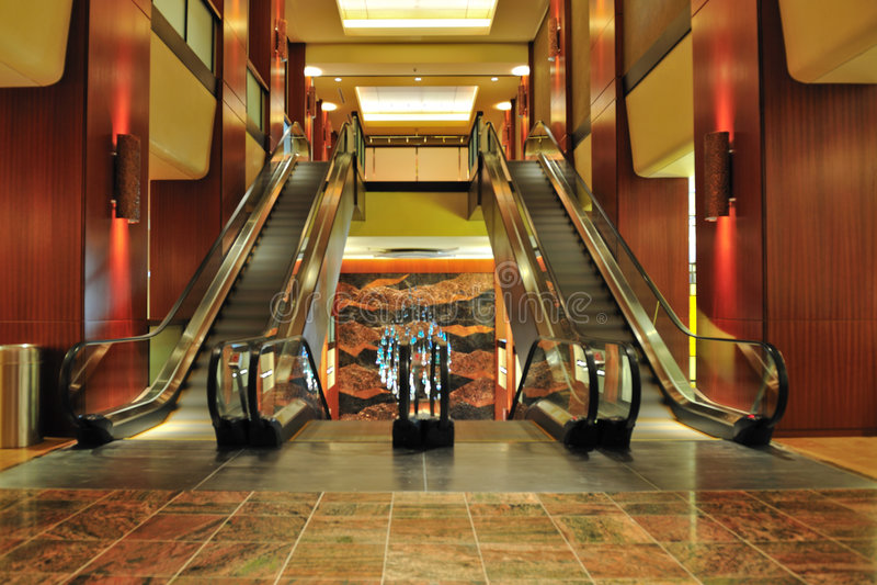 Interiores do hotel de Sheraton foto de stock