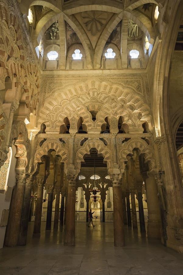Interiores do Mezquita em Córdova imagem de stock royalty free